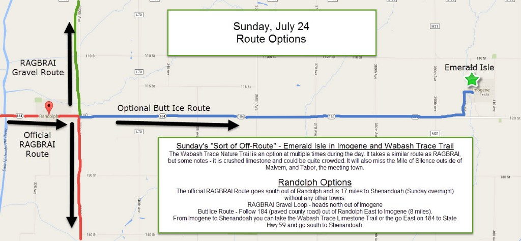 Sunday Route Options