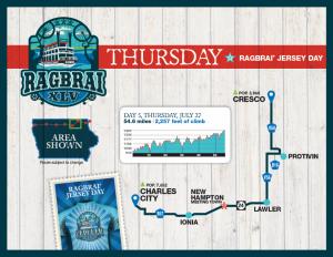 Thursday RAGBRAI Route Map