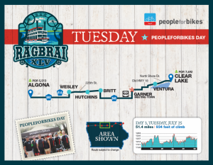 Tuesday RAGBRAI Route Map
